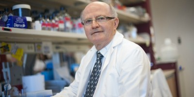 Lorne Babiuk, vice-president (research) at UAlberta, leads the team that will test a vaccine to protect livestock in Africa against five diseases