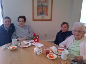 Left to Right - Cst. Jen Fraser, Carol Nicoll, Cst. Yelena Avoine and Agnes Friesen