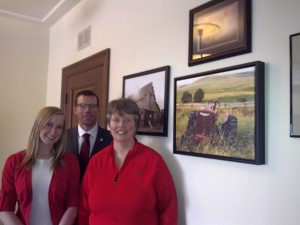John Barlow and Staff with Foothills Gallery Wall - Feb 2015