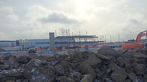 Construction is well underway on the new Northeast Calgary high school scheduled to open in 2016