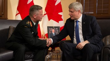 Prime Minister Stephen Harper announces the upcoming appointment of Lieutenant-General Jonathan Vance as the new Chief of the Defence Staff. - See more at: http://www.pm.gc.ca/eng/news/2015/04/27/prime-minister-stephen-harper-announces-upcoming-appointment-new-chief-defence-staff#sthash.CNtsQBxp.dpuf