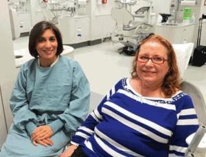 Deborah Berry (right) with oral pathologist Seema Ganatra