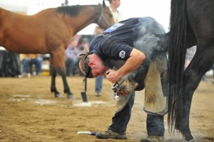 """Part of the competition is to """"shoe the horse"""" after the shoe is made"""