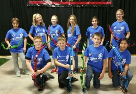Turner Valley School archery team