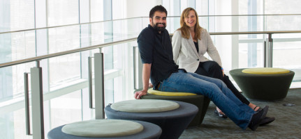 David Sidhu, a student in the Department of Psychology in the Faculty of Arts, worked with Professor Penny Pexman on the study. Photo by Riley Brandt, University of Calgary