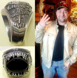 Cameron Mills with his lost ring