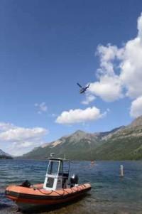 Waterton fire - water retrieval