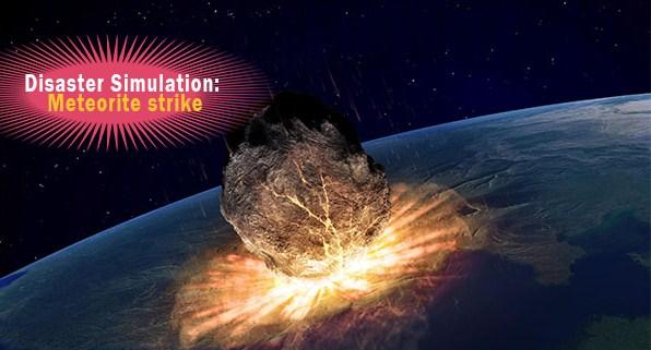 Meteorite strike
