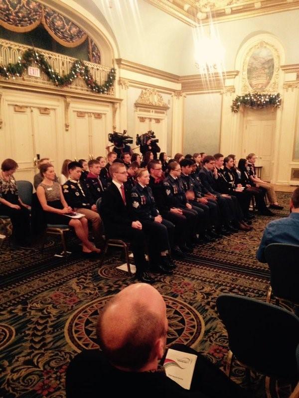 Duke of Edinburgh awards Calgary Nov 2015