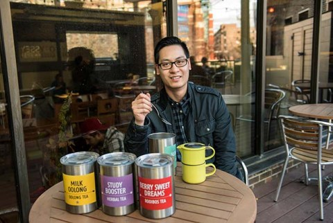 Wayne Ha (PCK '09), owner of The Tea Factory in Calgary, has been selling his high-quality teas at the SAITSA-run cafe, The Odyssey on campus since the beginning of the 2015 fall semester.