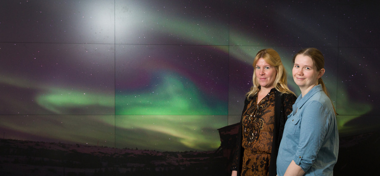 Susan Skone, Associate Professor in Geomatics Engineering, and Emma Spanswick, Associate Director of the Aurora Imaging Group, are working with the Canadian Space Agency.