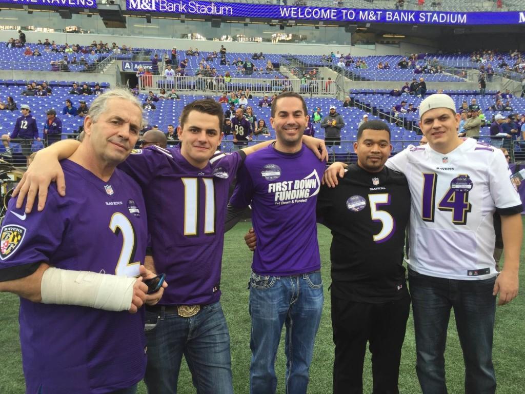 "Bret ""Hitman"" Hart, Blade Hart, Paul Pitcher, Henry Gonzalez, Dallas Hart (left to right)"