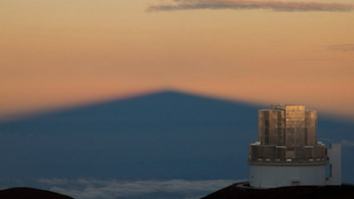 """The 8-meter Subaru Telescope atop Mauna Kea in Hawaii has a large field of view -- enabling it to search efficiently for """"Planet 9"""" and plenty else. Photo by National Astronomical Observatory of Japan."""