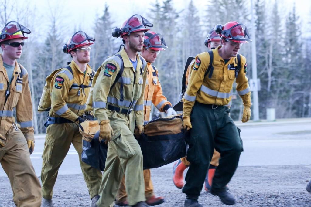 Alberta wildfire fighters training