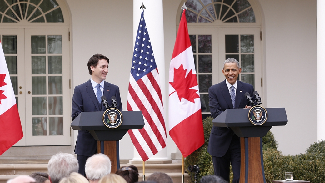 Prime Minister Justin Trudeau and President Barack Obama hold a joint press conference in Washington, D.C.
