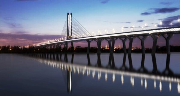 The new Champlain Bridge will be a cable-stayed bridge . Part of the deck is suspended by cables