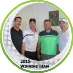2015 Winning Team in golf ball limage