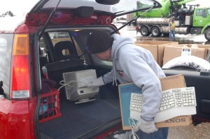Some municipalities sponsor free electronics recycling events where citizens can properly dispose of old computer equipment.