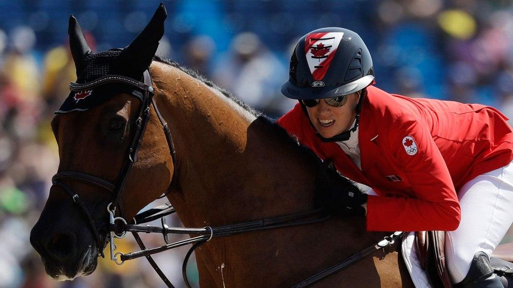 Amy Millar on her horse Heros