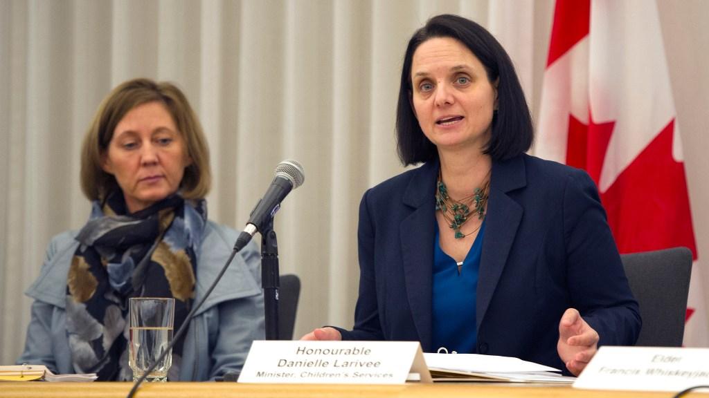 Danielle Larivee speaks at Child Intervention Panel