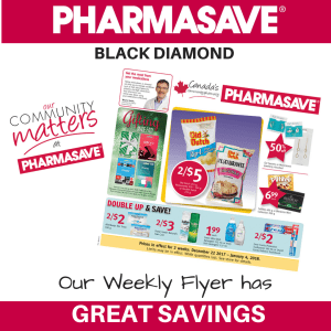 Pharmasave Flyers Are Available Online ~ Plus a Bonus