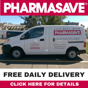 Delivery Service is FREE and Daily from Pharmasave Black Diamond