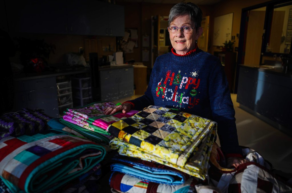 Alberta Quilter Donates Quilts to Patients