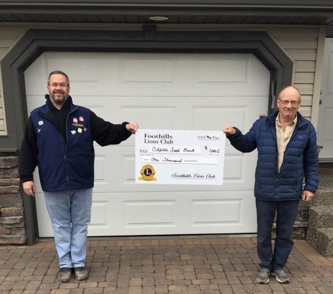 Lions' Food Bank donation