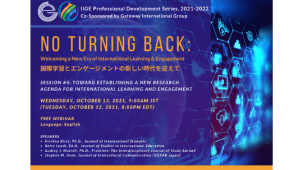 No Turning Back: Welcoming a New Era of International Learning and Engagement