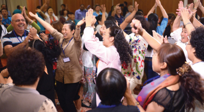 Chinese Christians know how to sing and dance, and they do it with all their hearts. (PHOTO: Maoz Israel)