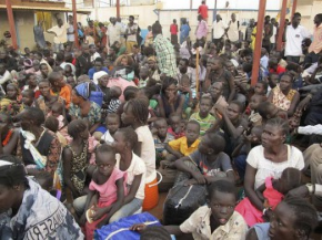 Associated Press/UNMISS Juba Refugees at a UN compound in Juba, South Sudan