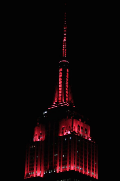 (PHOTO: FACEBOOK/EMPIRESTATEBUILDING) Empire State Building lit up in red after Republicans win majority of the Senate.