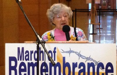 Anita Dittman speaks about her life in one of Nazi Germany's concentration camps. She grew up in Germany and was almost 6 years old when Hitler came to power. Read more at http://www.wnd.com/2015/03/holocaust-survivor-honored-for-faith/#MVh1IhpxzDAerITZ.99