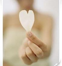 love with paper heart