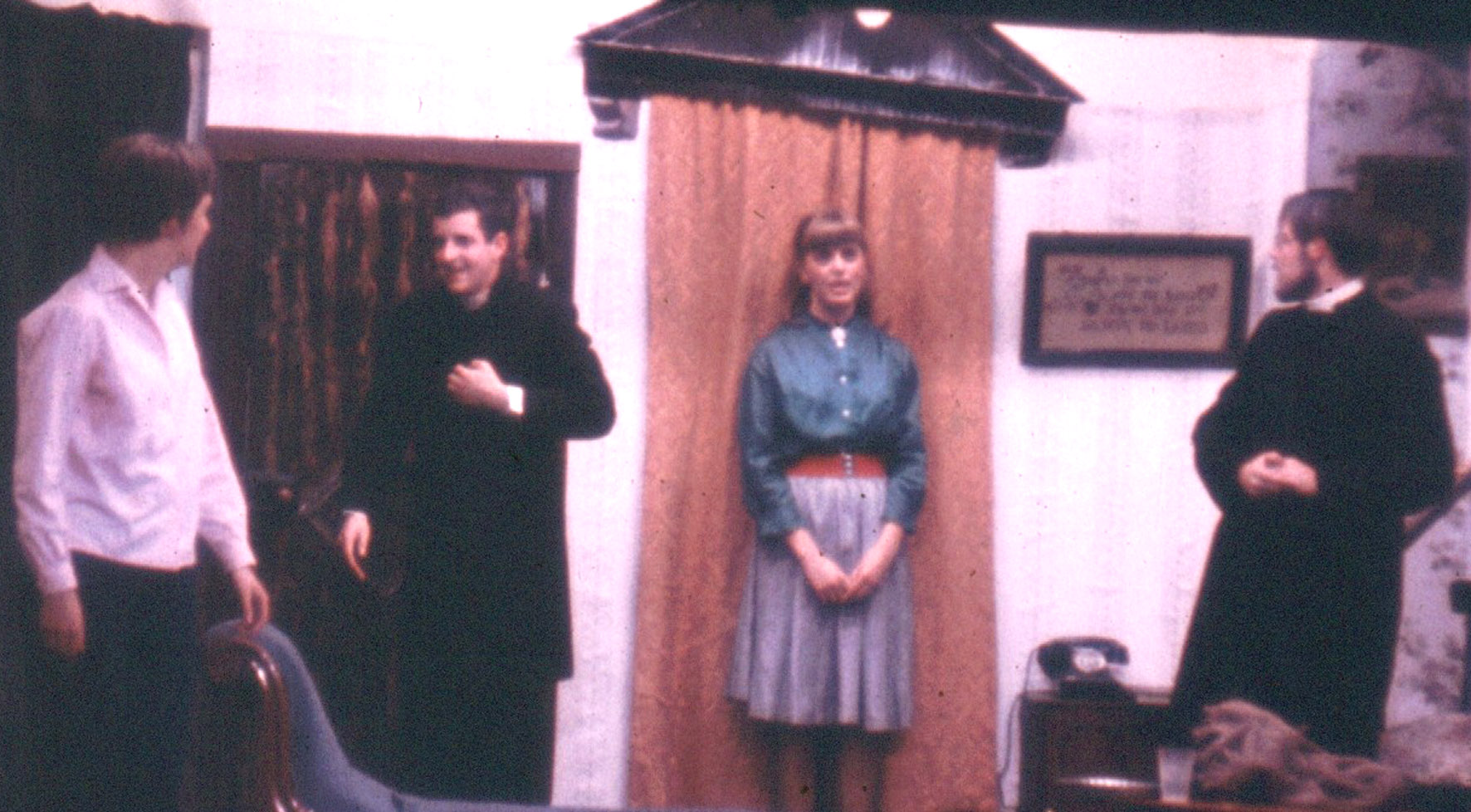 A scene from the 'See How They Run' being performed in the Gateway Theatre in 1968.