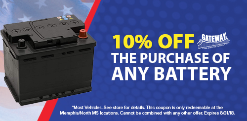 Gateway August Coupons_10% OFF Battery