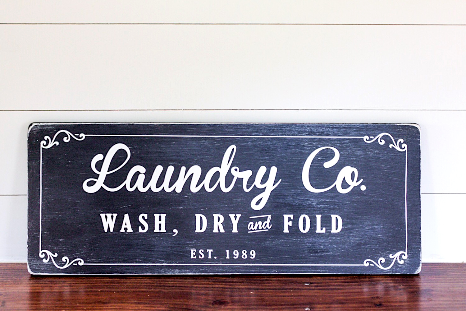 Farmhouse Laundry Room Sign Tutorial ORC Week 4 Gather