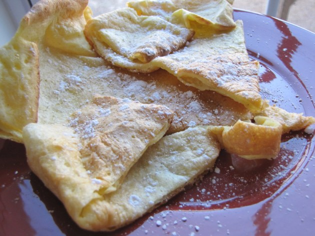 Oven Baked Puffy Pancakes
