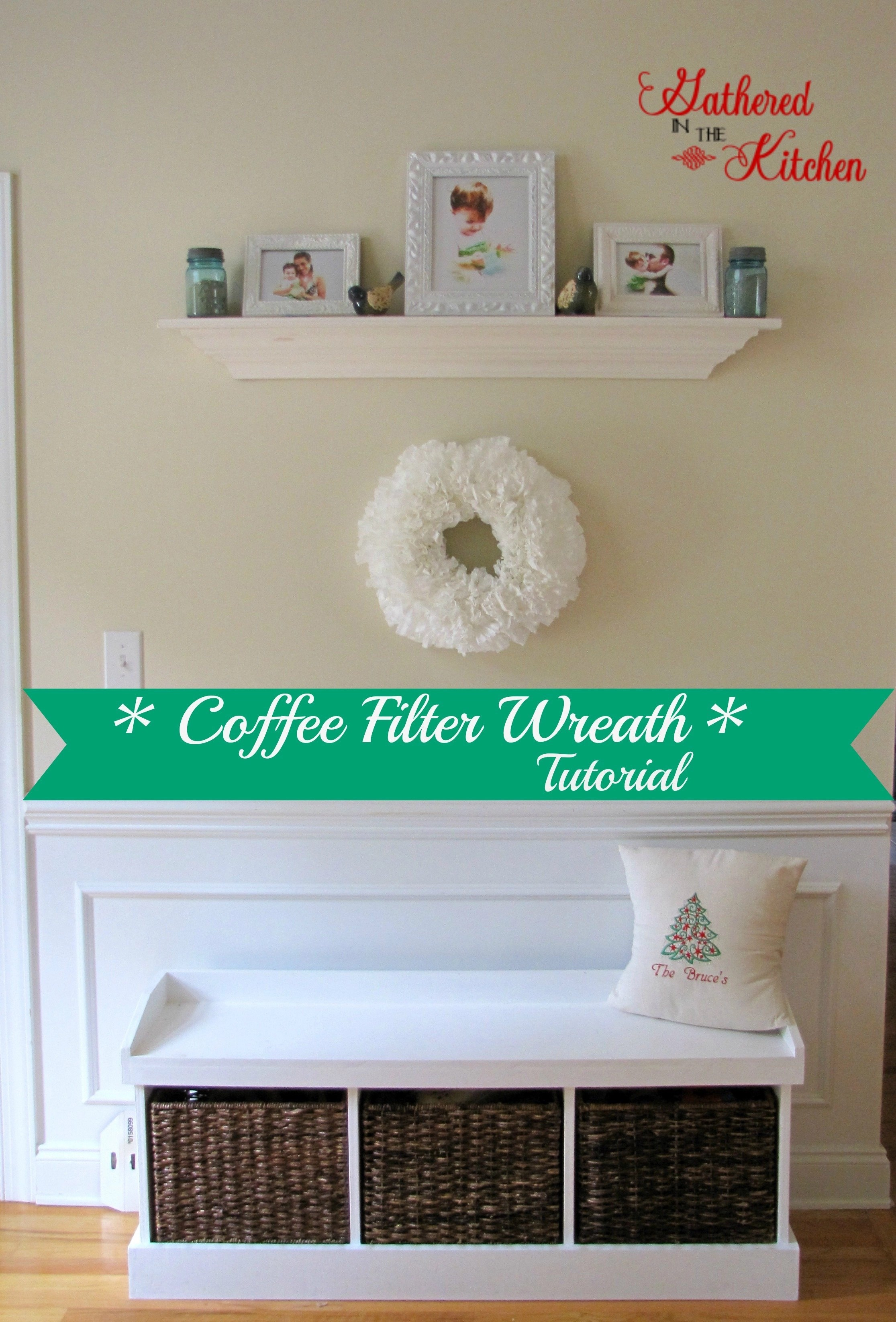 coffee filter wreath1