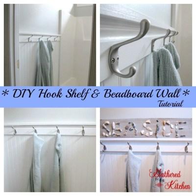 Diy Towel Hook Shelf Amp Beadboard Wall Tutorial