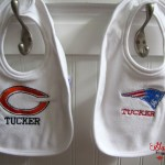Chicago Bears & New England Patriots Baby Shower Gifts