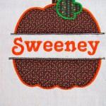 Pumpkin Nameplate Garden Flag