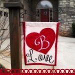 Valentine's Day Garden Flag DIY