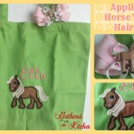 Appliqued Horse Tote & Hairbow