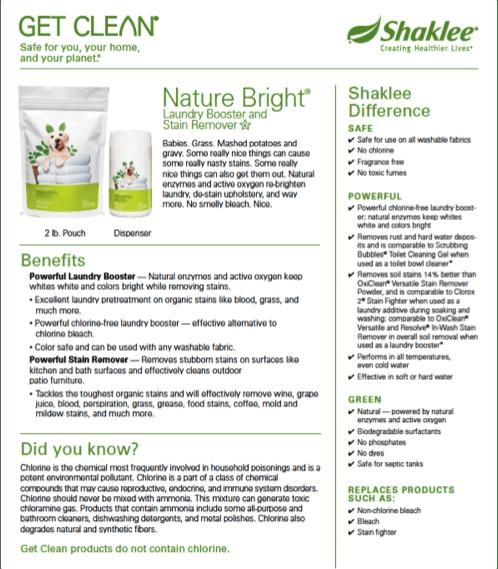 Nature Bright Fact Sheet 1