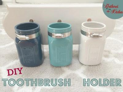 DIY Mason Jar Toothbrush Holder