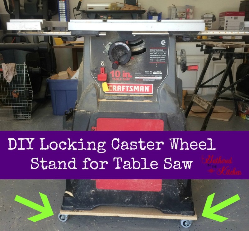 DIY Locking Caster Wheel Stand for Table Saw