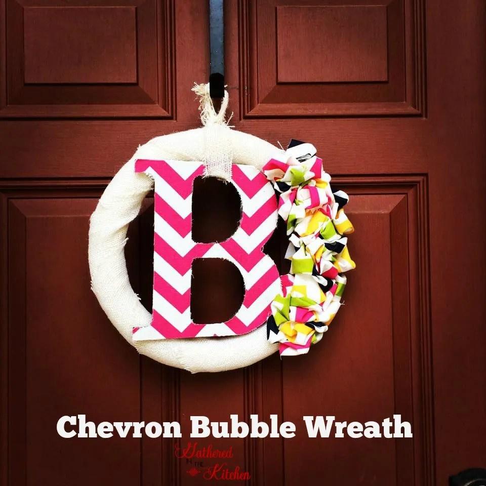 Blukatkraft Easy Diy Scrap Fabric Ribbon Wreath: Chevron Bubble Wreath DIY Tutorial
