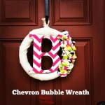 Chevron Bubble Wreath DIY Tutorial