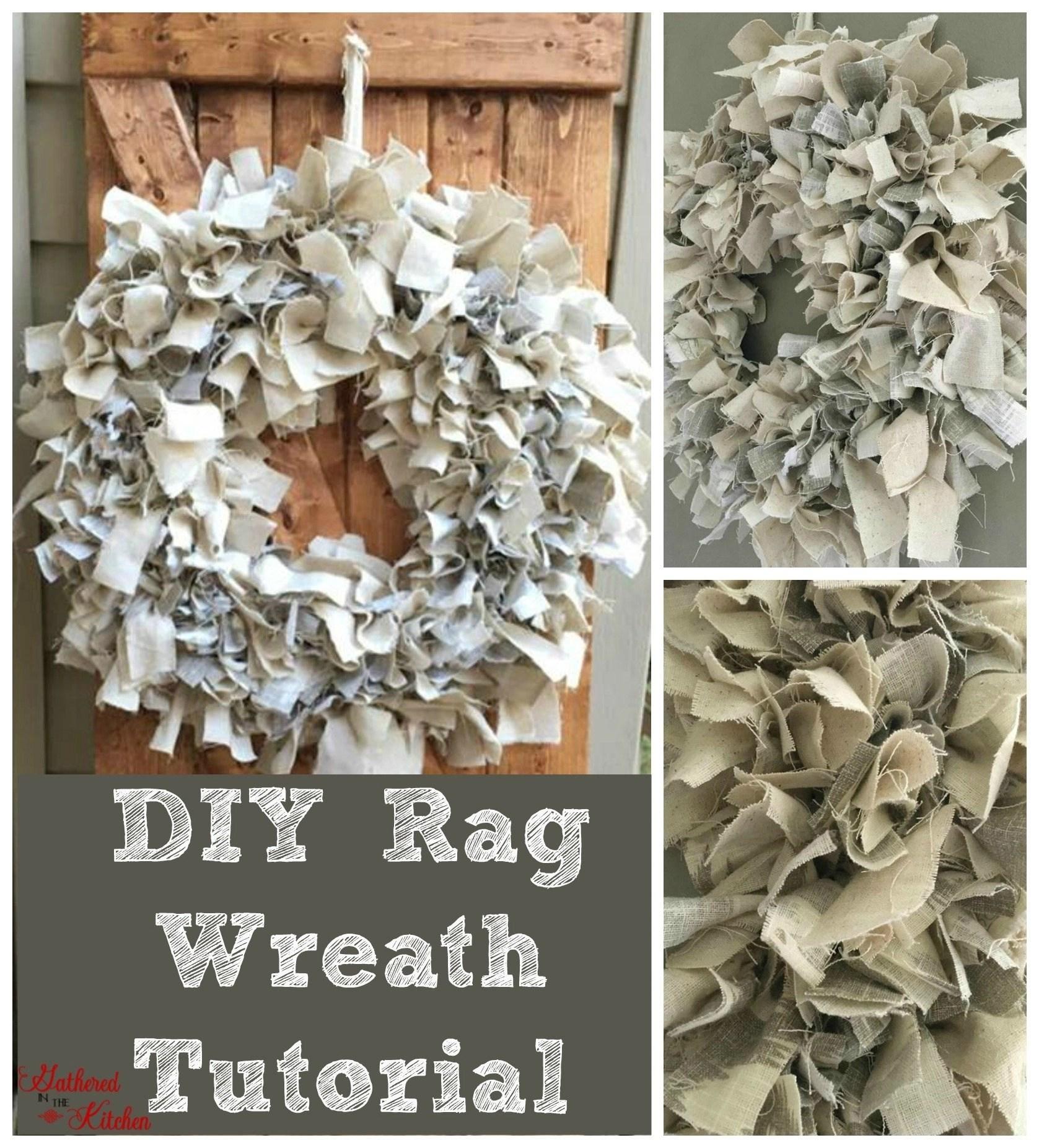 Diy Rag Wreath Tutorial Beginner Level Project Amp Costs